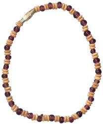 10 Long Coco & Glass Bead Anklet