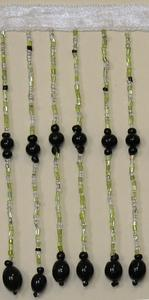 5 long Glass Bead Fringe
