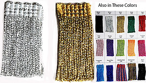 6 inch Metallic Chainette fringe 18 yards