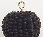 Black Bead Tassel