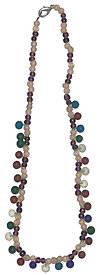 16 Long Glass Bead Necklace
