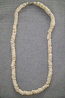 Thick Tumbled Bleached Tiger Puka Necklace 18