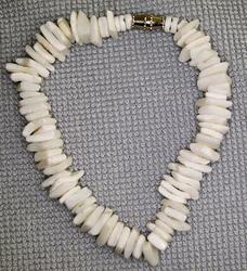 White Square-Cut Clam Shell Anklet/Bracelet