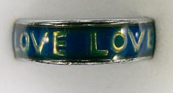 Band Mood Ring with Love