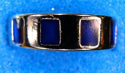 Band Mood Ring with Square Symbols