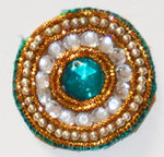 Bullion and Bead Applique