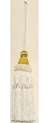 5 1/2 ivory tassel with 4 1/2 loop